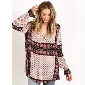 Free People Changing Times Printed Tunic